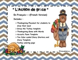 Thanksgiving Activities-In French