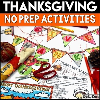 Thanksgiving Activities, Crafts, and Word Search