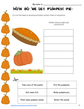Thanksgiving Activities K-2 Math & Literacy Printables & Worksheets