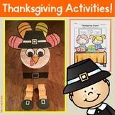 Thanksgiving Activities - Turkey Craft and More! (Kindergarten)