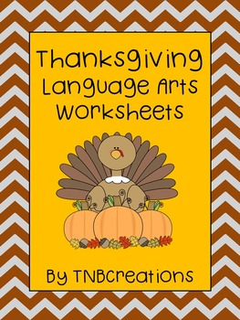 Thanksgiving Language Arts Worksheets