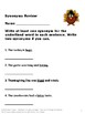 Thanksgiving Activities Language Arts Review