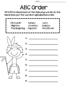 Thanksgiving Activities: Literacy and Math Pack