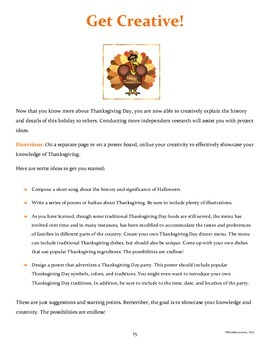 Thanksgiving Activities (Middle / Junior High School)