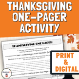 Digital Thanksgiving Activities Middle and High School | T
