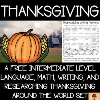 Thanksgiving Activities Mini-Set