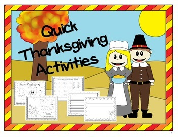 Thanksgiving No Prep Activities Pack