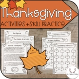 Thanksgiving Activities + Practice Pages