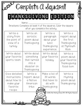 Thanksgiving {Activities & Printables}