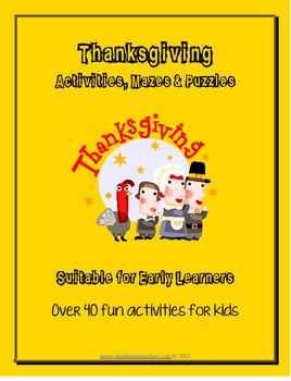 Thanksgiving Activities, Puzzles, Mazes and Games