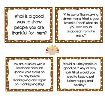 Thanksgiving Activities: Reading, Writing and Fun!