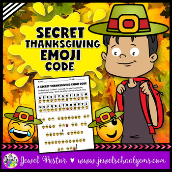 Thanksgiving Emoji Activities (A Secret Code)