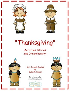 Thanksgiving: Second Grade Reading and Comprehension