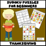 Thanksgiving Activities - Sudoku Puzzles for Beginners