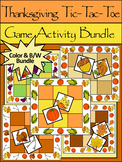 Thanksgiving Activities: Thanksgiving Tic-Tac-Toe Games Activitiy Packet Bundle