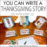 Thanksgiving Writing Activities Digital and Print