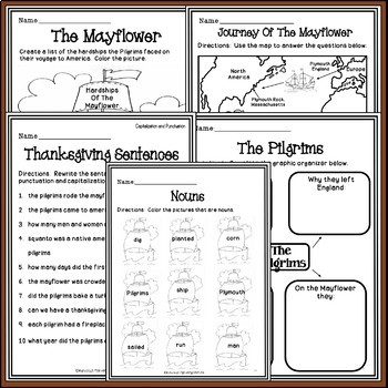 Thanksgiving Activities - The Pilgrims