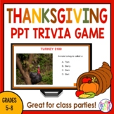 Thanksgiving Activities | Trivia Game