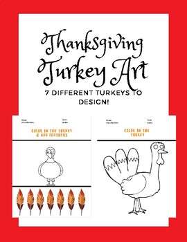Thanksgiving Activities- Turkey Coloring Pages FREEBIE!