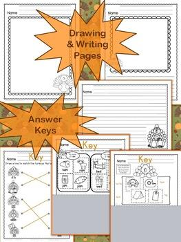 Thanksgiving Activities: Turkey -tastic Reading, Writing, & Math Readiness