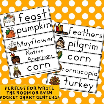 Thanksgiving Activities Write the Room