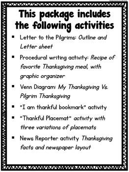 Thanksgiving Activities - Fall