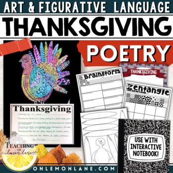 Thanksgiving Activities Writing Poetry / Figurative Langua