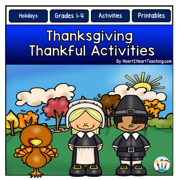Thanksgiving Writing: Attitude for Gratitude & Positive Character Traits Pack