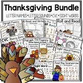 Phonics Thanksgiving Themed Activities