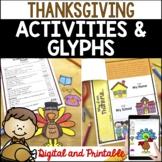 Printable & Digital Thanksgiving Activities: Turkey Glyphs, Crafts, Writing