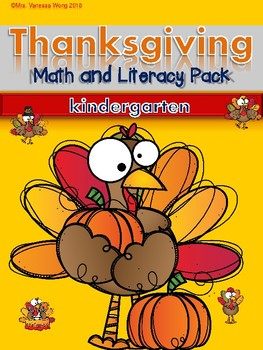 Thanksgiving Activities for Kindergarten Math and Literacy No Prep Printables