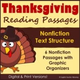 Thanksgiving Activities for Nonfiction Text Structure - Pr