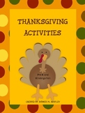 Thanksgiving Activities for PreK and Kindergarten {Literacy and Math Skills}