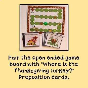 Thanksgiving Activities for Speech Therapy PK-2nd Grade