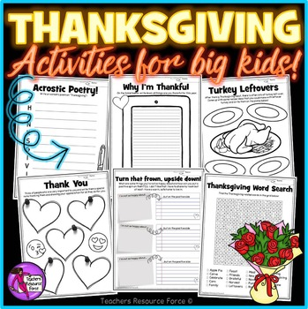 Thanksgiving / Fall Activities for teens
