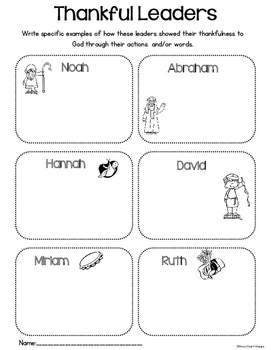 Thanksgiving Activities for the Christian Classroom