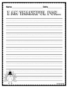 Thanksgiving Writing Resources (lower grades)