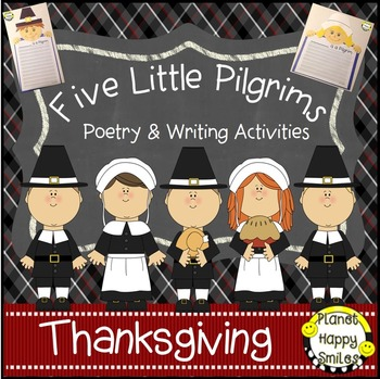 Thanksgiving Activity ~ Writing and Poetry: Five Little Pilgrims