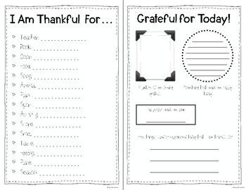 Gratitude Social Emotional Learning Activity