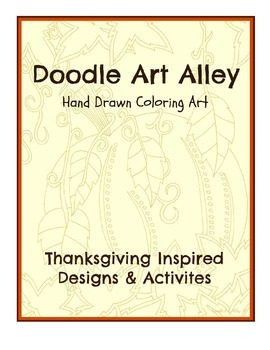 thanksgiving activity book by doodle art alley tpt