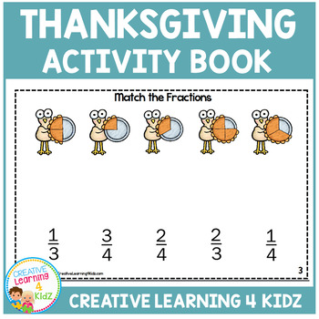 thanksgiving activity book by creative learning 4 kidz tpt