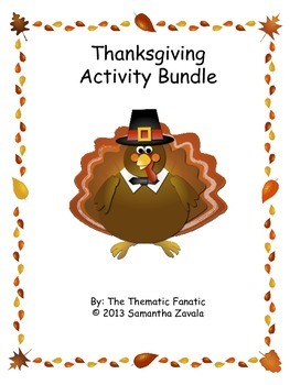 Thanksgiving Activity Fun Bundle!