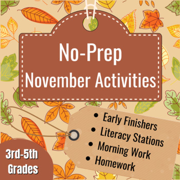Thanksgiving Activity Collection (Activites for All Learning Styles!)