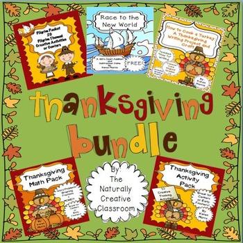Thanksgiving BUNDLE:Thanksgiving Activities for Math,Writi