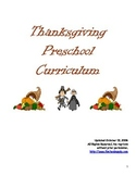 Thanksgiving Activity Curriculum PreK/K/1/2