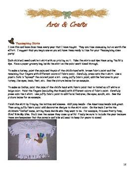 Thanksgiving Activity Curriculum PreK/K/1/2