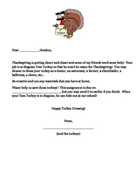 Thanksgiving Activity - Disguise the Turkey!