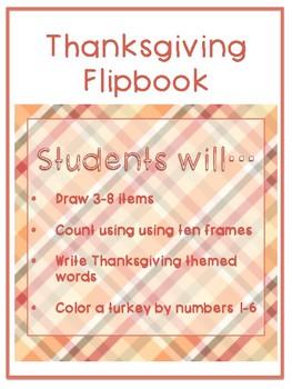 Thanksgiving Activity Flipbook *FREEBIE*