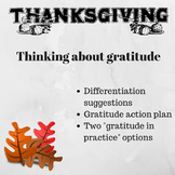 Thanksgiving Activity: Practicing Gratitude