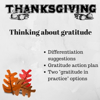 Thanksgiving Activity: Practicing Gratitude